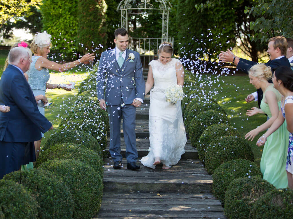 Wedding outside at Quy Mill Hotel & Spa